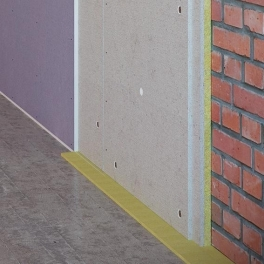 Бескаркасная звукоизоляция стен