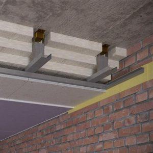 Звукоизоляция потолка в квартире. Каркасная система.