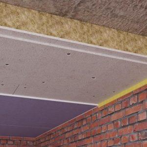 Звукоизоляция потолка в квартире. Бескаркасная система.